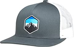 Simple and clean design for those that love the outdoors - camping, hiking, fishing, hunting. The unique liquid embroidery logo is placed on a high quality hat. The front panels are structured with mesh back. The hat has an adjustable plastic...