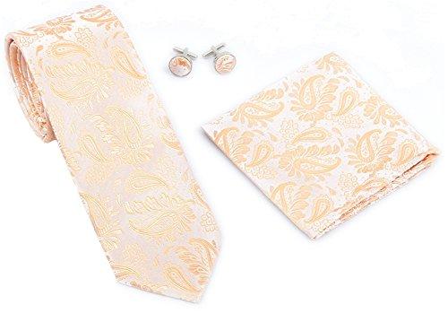 Kingsquare paisley pocket square cufflinks product image