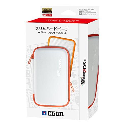 スリムハードポーチ ホワイト×オレンジ(New2DSLL用)の商品画像
