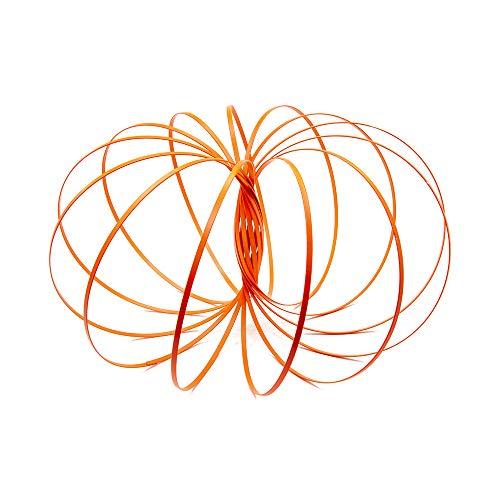 (GloFX Glow Flow Ring - Orange - UV Reactive Glow in The Dark Magic Kinetic Arm Spring Interactive Toy)