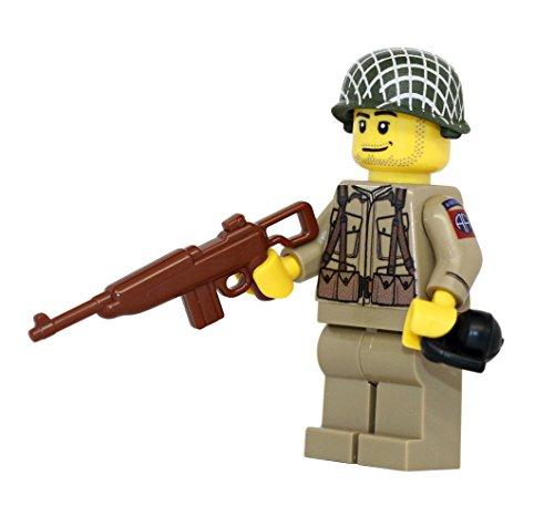 Modern Brick Warfare US Army American WW2 82nd Airborne Ranger Soldier Custom Minifigure ()