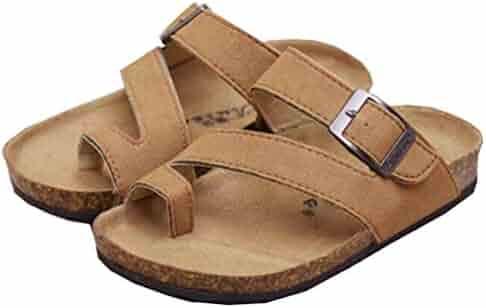 c256d40f12737 Wentsven Toddler Kids Boys Girls Soft Wooden Insole Beach Thong Sandals