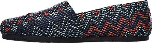 Skechers Donna BOBS Peluche Urbano zigzaglio Alpargata, Navy / Multi