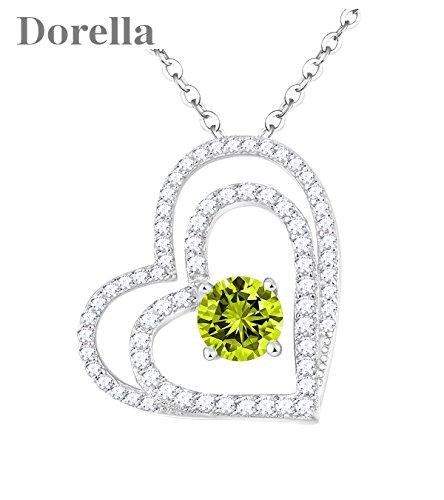 Birthstone Heart Necklace - 4