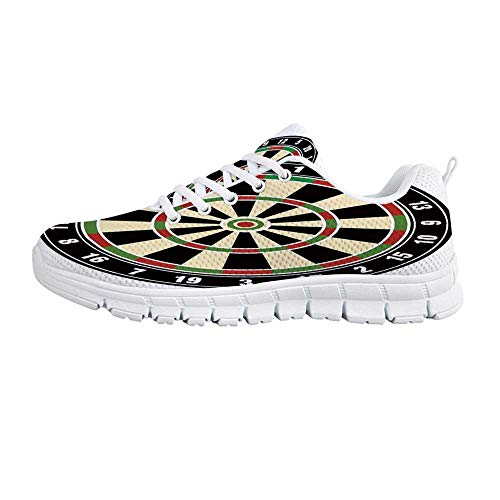 YOLIYANA Sports Sport ShoesDart Board Numbers Sports Accuracy Precision Target Leisure Time Graphic Sneakers for Girls Womens,US 5 (Rug Chevron Target)