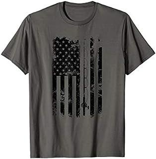 American Flag Fishing  Vintage Fishing Tshirt T-shirt | Size S - 5XL