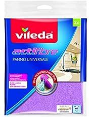 Vileda Actifaser ściereczka uniwersalna 100% mikrofibra, posortowane kolorystycznie, 2 sztuki w opakowaniu