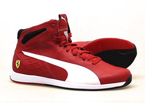 Puma - Zapatillas de Piel Lisa para hombre rojo rojo