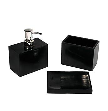 Fomax Accessoire salle de bain zen gris en coffret: Amazon.fr ...