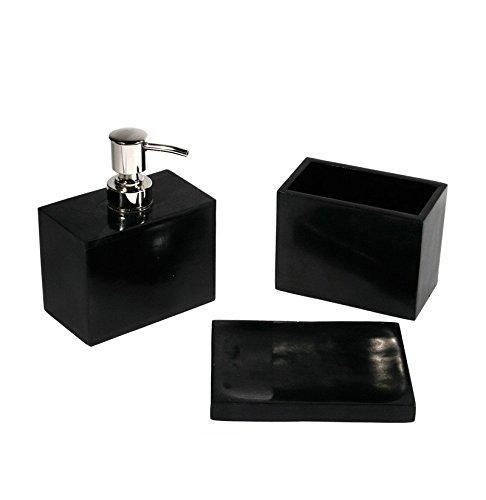 Accessoire salle de bain zen gris en coffret: Amazon.fr: Cuisine ...