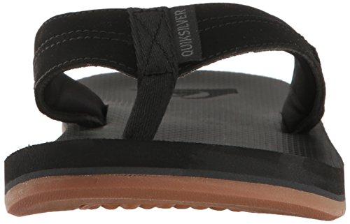 Die Sandale von Coastalasis II von Quiksilver Men Schwarz / Schwarz / Braun
