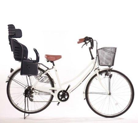 爆買いセール Lupinusルピナス 自転車 26インチ LP-266UD-KNRJ-BK 軽快車 B073LHJWYJホワイト 爆売り シマノ外装6段ギア 樹脂製後子乗せブラック ダイナモライト