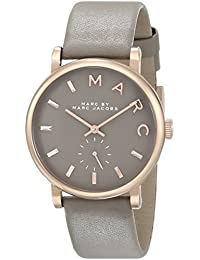 Marc Jacobs Marc by Women's MBM1266 Baker Rose-Tone Stainless Steel Watch with Grey Leather Band