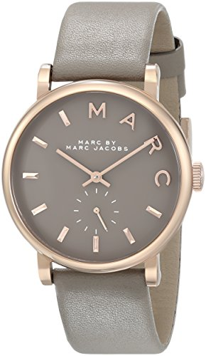 Marc by Marc Jacobs Women's MBM1266 Baker Rose-Tone Stainless Steel Watch with Grey Leather Band by Marc by Marc Jacobs