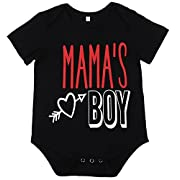 SWNONE Baby Boy Clothes Newborn Infant Letter Printed Short Sleeve Romper Bodysuit Jumpsuit Outfit Black (Black, 6-12 Months)