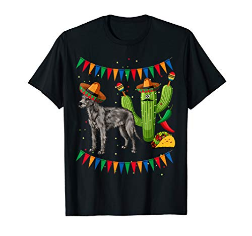 (Sombrero Irish Wolfhound Dog Mexico Cinco De Mayo T)