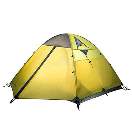 時代ブラウズ放射性シュウクラブ@ 屋外機器登山キャンプ風と雨3つのダブルキャンプテント (色 : イエロー いえろ゜)