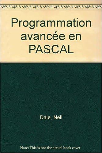 En ligne téléchargement gratuit Programmation avancée en PASCAL pdf