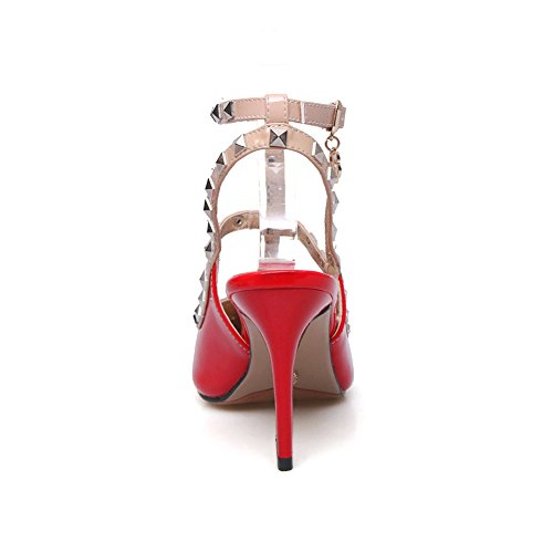 Vertical Femme Verni Strip Ye Rouge Cuir Vert En xvq1556Ew