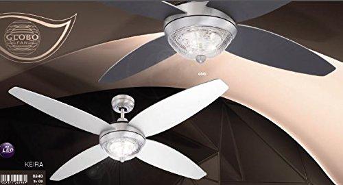 Plafoniere Con Pale : Ventilatore da soffitto con luce e telecomando gradini pale