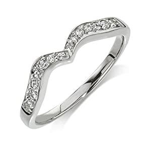 Wedding Band Diamond .175 CTW Round I color SI1 clarity 10k White Gold Ring MADE IN THE USA