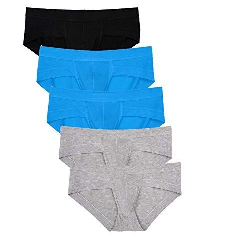 Avidlove Men Underwear Cotton Low Rise Briefs Stretch Hip Bikinis 5 Packs
