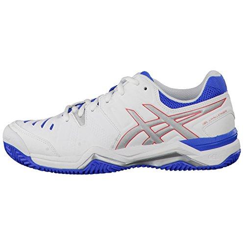 ASICS zapatillas de tenis para mujer gel-CHALLENGER 10 clay E555Y Blanco - White/Silver/Powder Blue