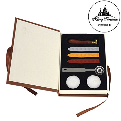 Xage Wax Seal Stamp Kit for Christmas- Old Fashioned Vintage Retro Classic Sealing Stamps Arts & Crafts for Letter/ Envelope/Greetings/Gift (Wax Stamp Seal Crown compare prices)