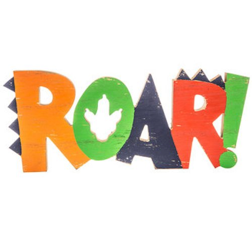 ROAR! Wood Wall Decoration Boys Room Kids Decor -