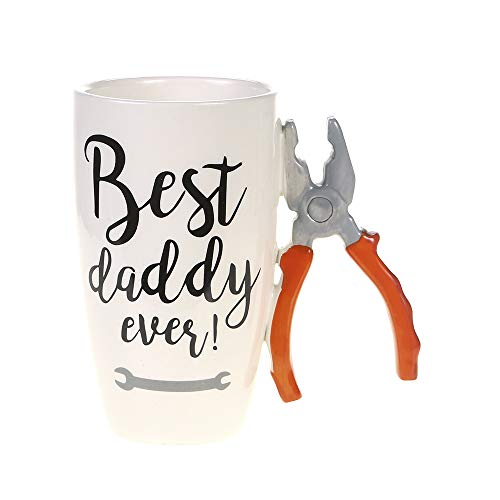 Home Essentials 5.75 inches x 3.50 inches x 3.50 inches Pliers Handle Best Daddy Ever Mug 9 ounce