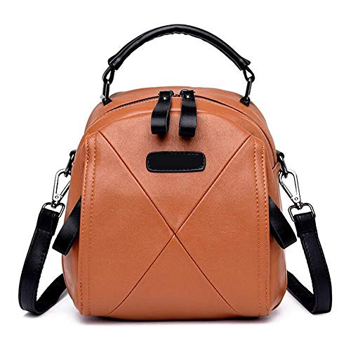 De LANGUANGLIN E C Hombro Cuero Collision De Fashion Color Bolso Backpack Wild Trend PpTrPSq0