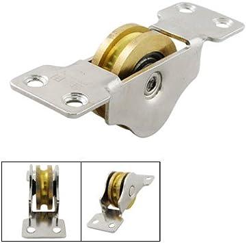 3,3 cm solo eje doble rodamientos para puerta corredera peso polea rodillo ventana: Amazon.es: Bricolaje y herramientas