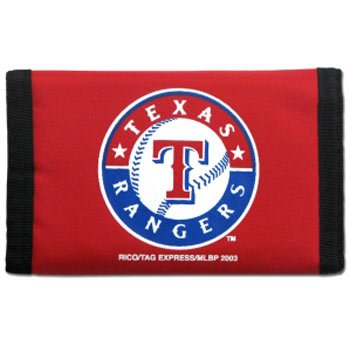 Rico MLB Texas Rangers Red Nylon Trifold Wallet