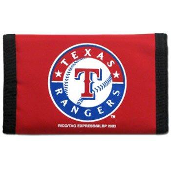 (Rico MLB Texas Rangers Red Nylon Trifold Wallet)