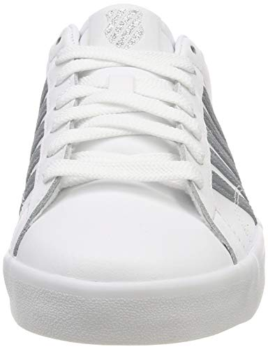 Swiss Low Top K Women's Belmont 129 So White Sneakers White Mist Gray dXwIXqT