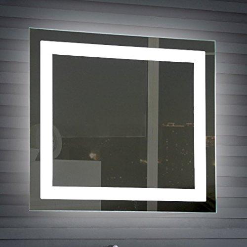 Nameeks arr01Glimmer iluminado espejo de cambiador, 24' x 28', pulido