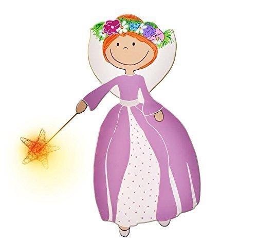 lámpara para niños, luz de noche led, lámpara infantil, hada con estrella, luz ambiental niños bebes pilas, luz dormitorio habitación niño bebe, ...