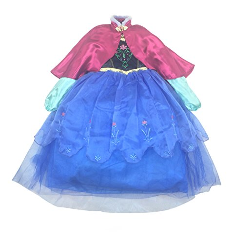 Disney Store Frozen Princess Anna Deluxe Costume with Cape (9/10) -