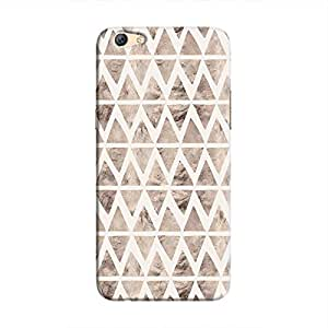 Cover It Up - Stone Triangles White F3 Plus Hard case