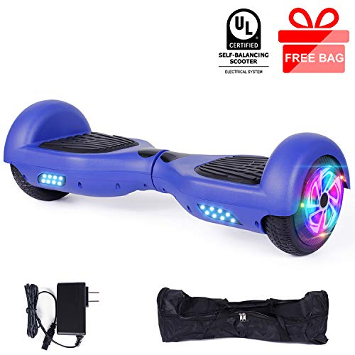 EPCTEK 6.5' Hoverboard Self Balancing Electric Scooter UL 2272 Certified Hoverboard for Kids Adults Hover Board with LED Lights Great Gifts for Birthday