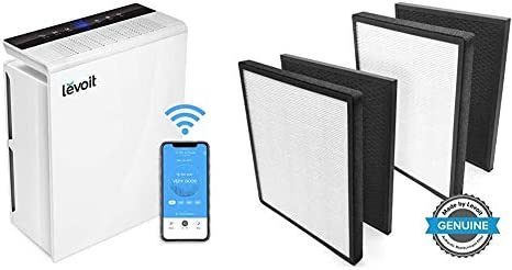 LEVOIT Smart Wifi Air Purifier for Home, Extra-Large Room with H13 True HEPA Filter & Air Purifier LV-PUR131 Replacement Filter True HEPA & Activated Carbon Filters Set, LV-PUR131-RF (2 Pack)