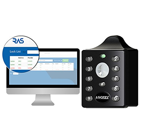 - EC790 Digital Combination Electronic Locker Lock, Black, with Remote Allocation System for Online Code Management Black