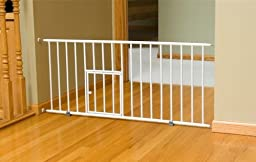 Carlson 0680PW Mini Gate with Pet Door, White