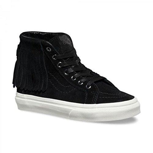 Vans Kids SK8-Hi Moc Suede Black Sneaker - Vans High Top Kids
