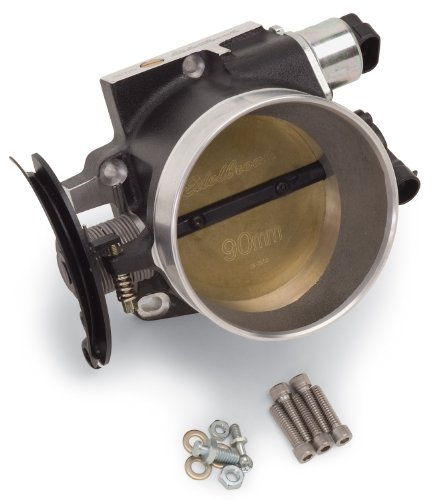 - Edelbrock 38693 Victor Series Throttle Body; 90mm; Racing EFI; Black Finish;
