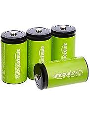 AmazonBasics NiMH-oplaadbare batterijen, 4 stuks C-cellen