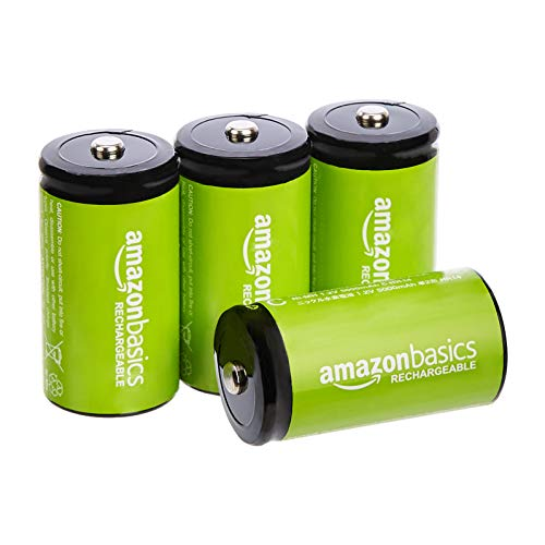AmazonBasics C Cell Rechargeable Batteries 5000mAh Ni-MH - 4-Pack