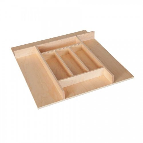 Century Components TTKF20PF Maple Wood Silverware Tray Drawer Organizer, 20'' x 22'' Trimmable
