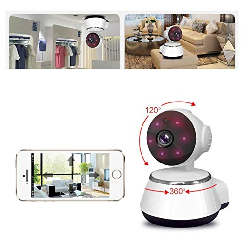 Oguine Security Camera,Wireless Surveillance Camera with Night Vision/Two-Way Audio, 720P HD WiFi Home Security Camera Home Monitor for iOS,Android,Motion Detection,Baby & Pet Security (White)