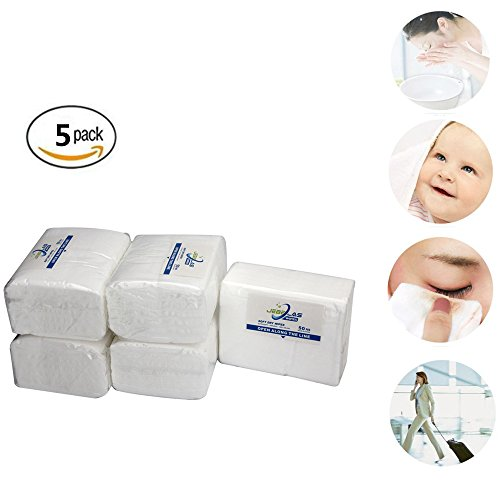 Jebblas Baby Dry Wipes Hospital Wipes Ultra Soft Cleaning Cloth Unscented Paper Towels Super Gentle and Absorbent Wash Cloth For Baby, Facial, Cleaning 50 Count/package (5) 9